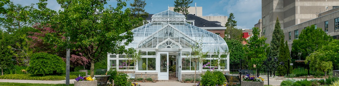 Greenhouse on University of Guelph campus