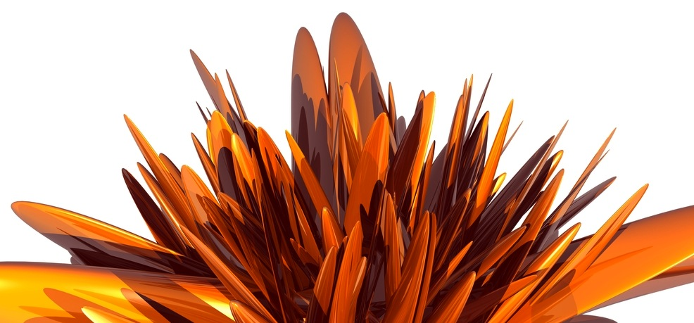 abstract spiky orange flower